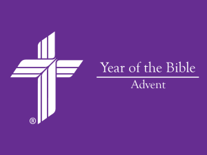 Year of the Bible - Season of Advent - Isaiah 4